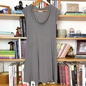 Prairie Underground   Grey Cap Sleeve Dress Small
